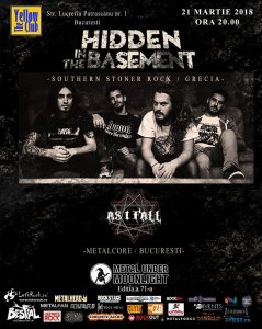 As I Fall deschide concertul Hidden in the Basement din 21 martie