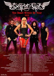 Scarlet Aura alături de legendara trupă Rhapsody în turneu European!