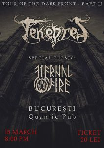 Tenebres concertează în Quantic Club alături de Eternal Fire cu ocazia lansării albumului de debut