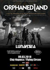 E-an-na va concerta alături de Orphaned Land, Lunarsea și Subterranean Masquerade în Cluj Napoca