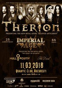 Concertul Therion (11.03.2018) se mută în clubul Quantic din București