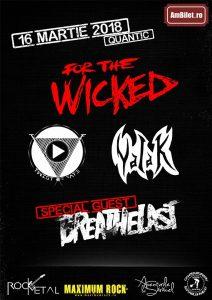 For The Wicked concertează alături de Breathelast, Twist Of Fate și Valak în București (Quantic, 16.03)