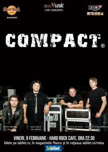 Concert COMPACT pe 9 februarie la Hard Rock Cafe