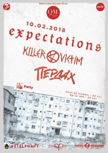 Concert Expectations, Killer Victim și Пердах în Club Motiv
