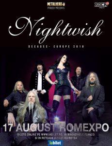 Nightwish sărbătoresc 20 de ani la București pe 17 august!