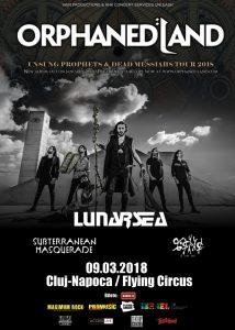 Programul concertelor Orphaned Land, Lunarsea, Subterranean Masquerade & E-an-na (Flying Circus, Cluj-Napoca)