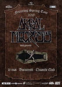 Akral Necrosis concertează la București pe 18 mai în Quantic Club