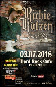 Concertul Richie Kotzen din Hard Rock Café; bilete cu loc la masă în fața scenei – Sold Out