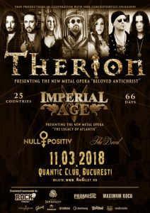 Program și reguli de acces la concertele Therion, Null Positiv, Imperial Age & The Devil​