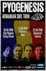 Concerte Pyogenesis şi In Real Colours în week-end-ul următor în Cluj-Napoca, Timişoara şi Bucureşti