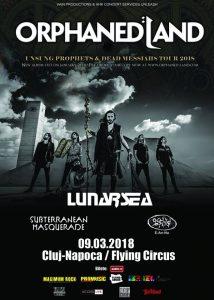 Cronică de concert: Orphaned Land, Lunarsea, Subterranean Masquerade şi E-An-Na în Cluj-Napoca