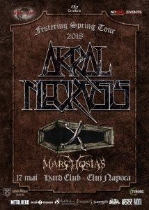 Akral Necrosis și Marchosias concertează în Hard Club din Cluj Napoca pe 17 mai