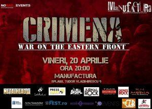 """CRIMENA lansează albumul """"Revelations"""" LIVE în Timișoara"""