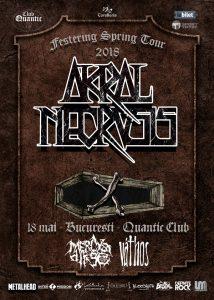 Mercy's Dirge și Váthos cântă alături de Akral Necrosis, pe 18 mai, în Quantic Club
