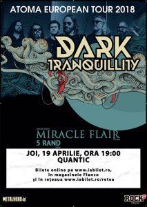 Concert Dark Tranquillity, Miracle Flair și 5Rand la București pe 19 aprilie
