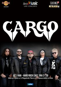Concert CARGO pe 3 mai la Hard Rock Cafe
