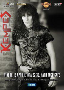 Kempes cântă pe 13 aprilie la Hard Rock Cafe