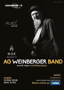 Concert extraordinar AG Weinberger Band, 18 mai, Arad