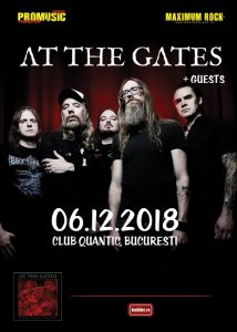 "AT THE GATES prezintă albumul ""To Drink from the Night Itself"" printr-un concert în România"