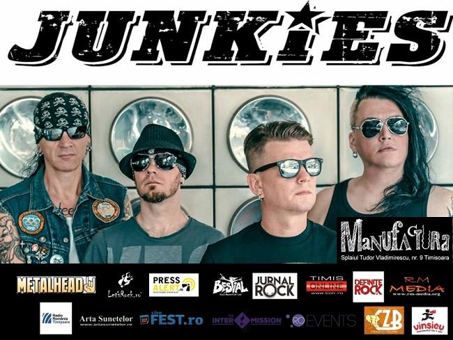 Trupa Junkies (HU) LIVE în Timișoara