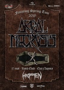 Kroppen îi înlocuiesc pe Marchosias în cadrul concertului Akral Necrosis din Hard Club, Cluj din 17 mai