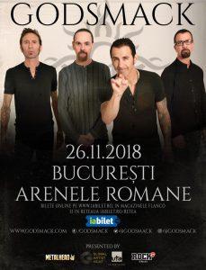 Americanii de la GODSMACK în concert la București