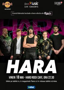 Concert Hara pe 18 mai la Hard Rock Cafe