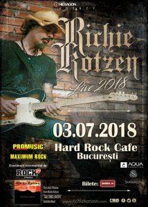 Ultimele 100 de bilete disponibile la concertul RICHIE KOTZEN de la București