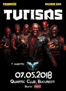 Mai puțin de o săptămână până la concertul Turisas & Twist Of Fate din club Quantic (7 mai)