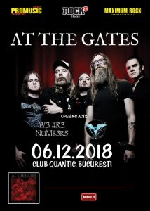 Află trupele care vor cânta în deschiderea concertului At The Gates de la București