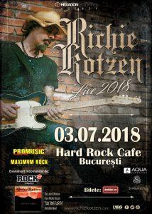 Doar o săptămână până la concertul Richie Kotzen de la Hard Rock Cafe