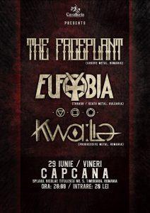 Cronică de concert: Kwalia, The Faceplant şi Eufobia în clubul Capcana din Timişoara