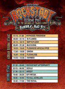 Rockstadt Extreme Fest 2018 – Line-up final şi programul pe zile