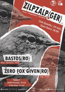 Concert ZilpZalp, Bastos și Zero Fox Given