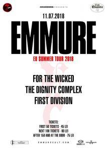 Concert EMMURE în premieră în București