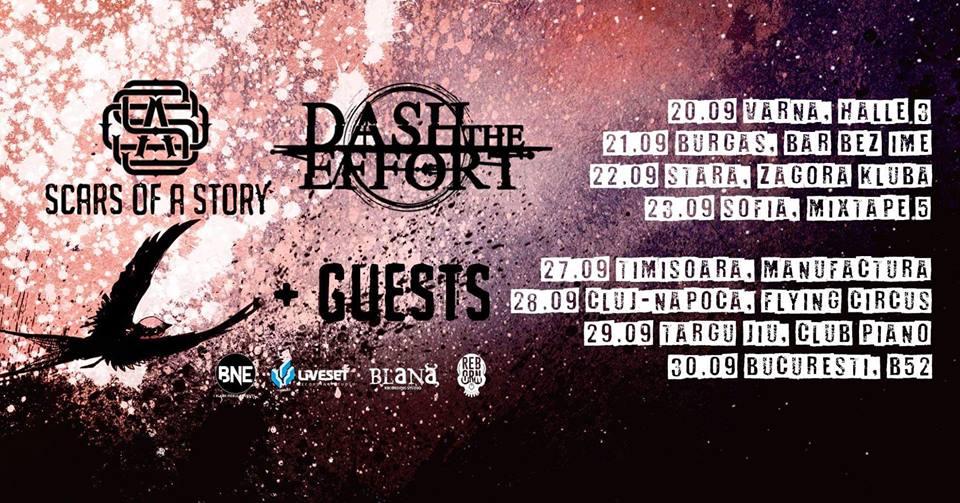 Dash The Effort (Bulgaria) şi Scars of a Story vor susţine un turneu în România în acest week-end