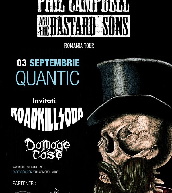 Programul concertului Phil Campbell and The Bastard Sons din această seară din Quantic