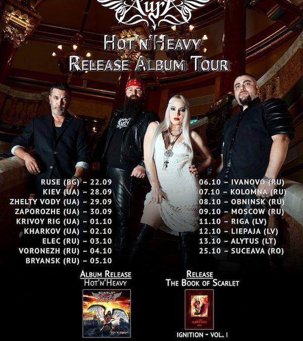 Scarlet Aura anunță turneu în Rusia și în alte țări Europene