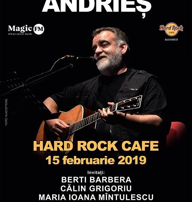 Concert Alexandru Andrieș – în premieră la Hard Rock Cafe