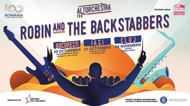 Robin and the Backstabbers cântă toamna aceasta acompaniați de o orchestră simfonică la București, Iași și Cluj
