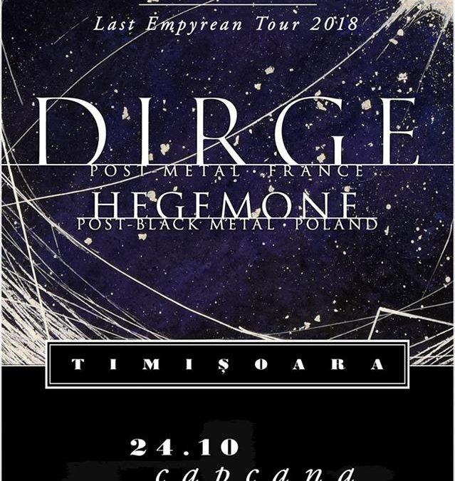 Concert industrial doom metal cu Dirge și Hegemone [FR] în Timișoara
