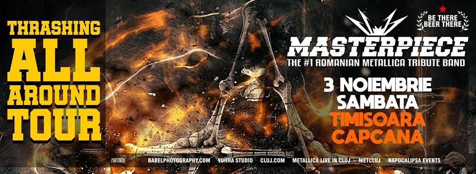 Masterpiece, cea mai renumită trupă românească tribut Metallica, va cânta în Timișoara