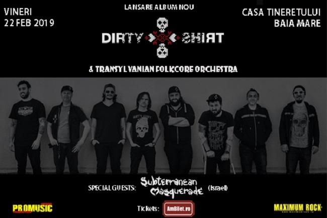 Dirty Shirt lansează noul album în Baia Mare, într-un concert special