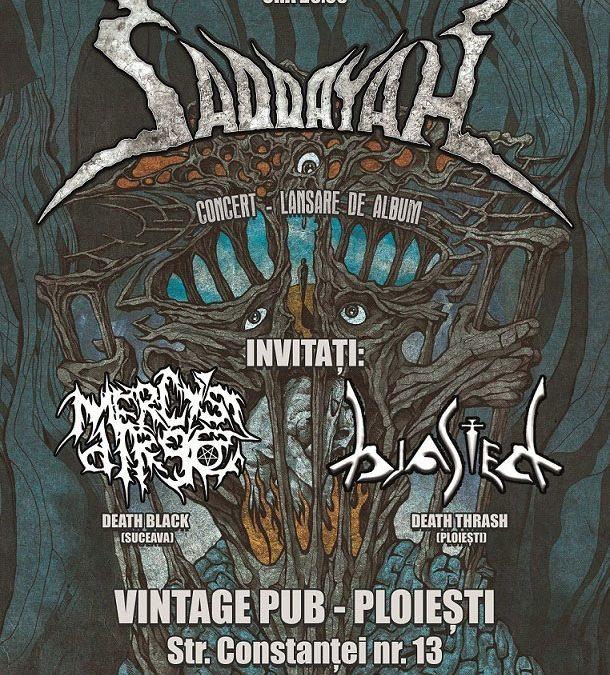 Trupa Saddayah lansează sâmbătă primul album la Ploiești