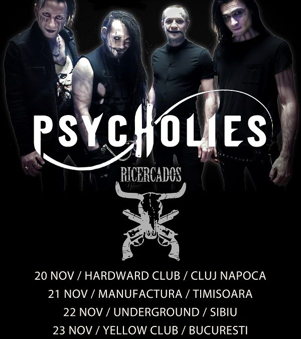 Turneu PsycHolies în România în luna noiembrie