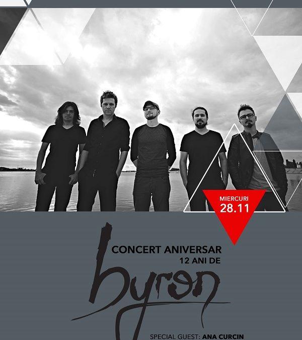 Trupa byron sărbătorește 12 ani de activitate miercuri, 28 noiembrie, în club Expirat; special guest – Ana Ćurčin
