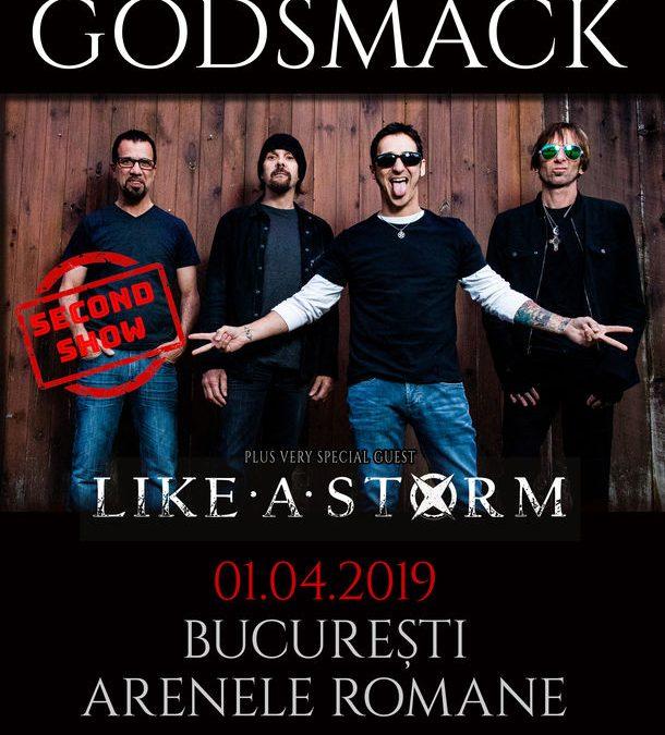 GODSMACK în concert la București și pe 1 aprilie