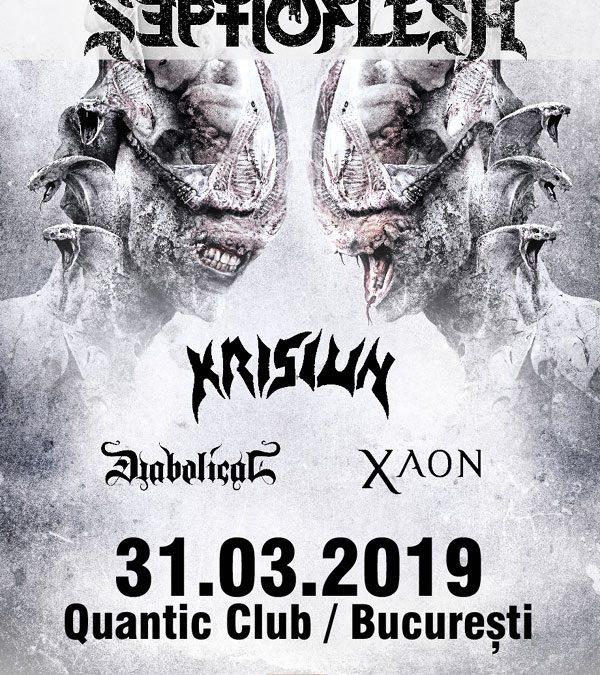 Concert Septicflesh, Krisiun, Diabolical și Xaon la București
