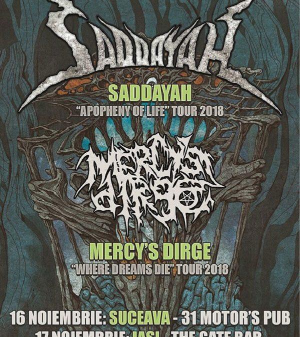 Weekend death metal cu Saddayah și Mercy's Dirge la Suceava și la Iași