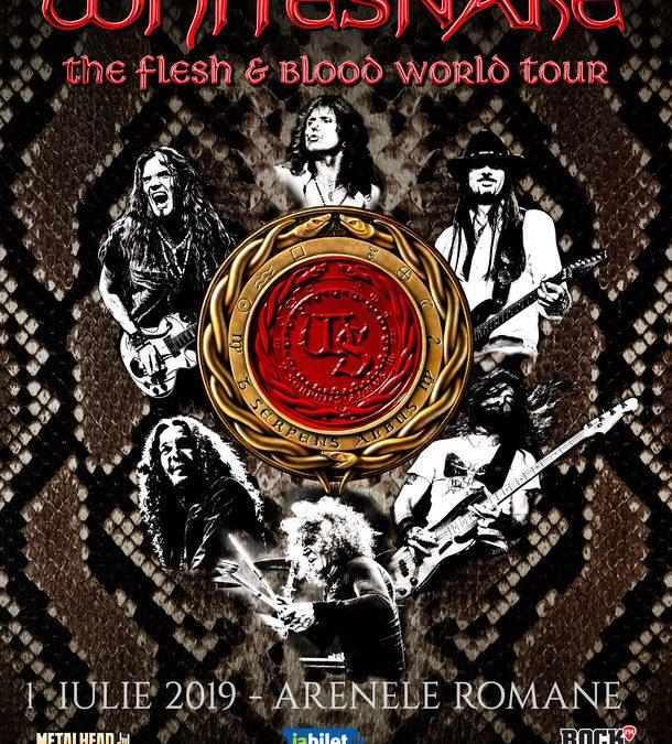 Concert Whitesnake la București pe 1 iulie 2019